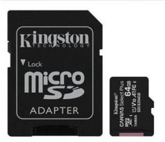 Pamäťová karta Kingston Canvas Select Plus microSDXC 64GB Class 10 UHS-I 100/10 MB/s (+ adaptér) (SDCS2/64GB)